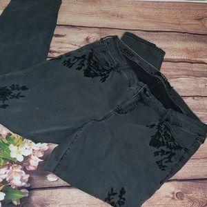 Torrid premium denim black embroidered Jean's